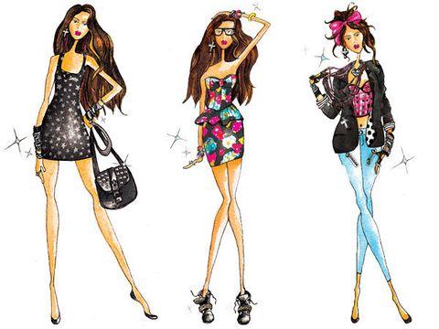 Leg, Shoulder, Joint, Fashion illustration, Pink, Style, Line, Magenta, Costume design, Fashion,