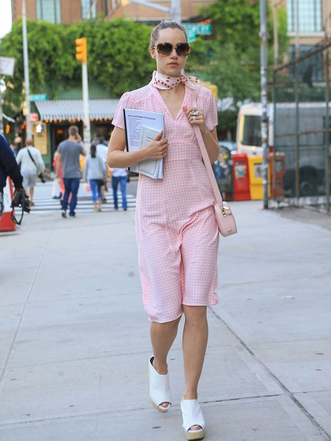 White, Street fashion, Clothing, Photograph, Fashion, Eyewear, Pink, Sunglasses, Snapshot, Footwear,