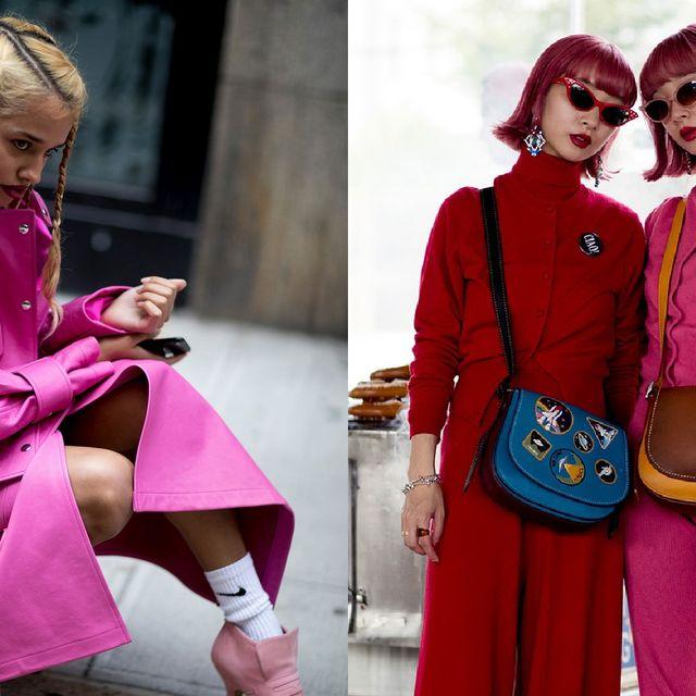 Pink, Clothing, Red, Magenta, Fashion, Outerwear, Street fashion, Costume, Coat, Jacket,