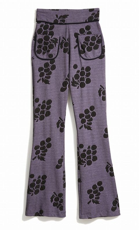 Textile, Purple, Style, Pattern, Violet, Lavender, Suit trousers, Visual arts, Fashion design, Active pants,