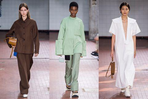 Fashion model, Fashion, Clothing, Runway, Fashion design, Suit, Fashion show, Pantsuit, Uniform,