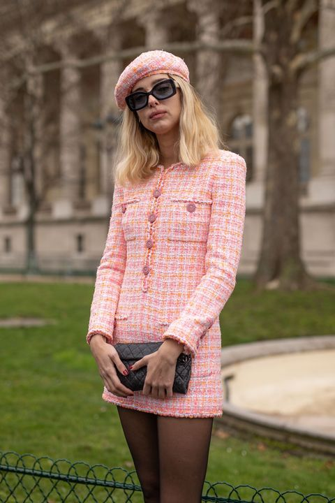 Clothing, Pink, Photograph, Street fashion, Fashion, Eyewear, Beauty, Snapshot, Footwear, Blond,