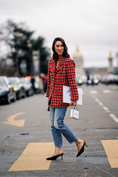 Plaid, Tartan, Clothing, Street fashion, Photograph, Jeans, Pattern, Fashion, Snapshot, Beauty,