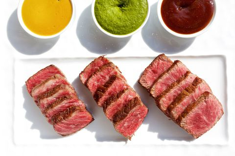 Ingredient, Beef, Pink, Magenta, Tableware, Condiment, Sauces, Serveware, Red meat, Chutney,