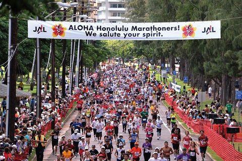 People, Crowd, Social group, Community, Endurance sports, Team, Banner, Racing, Pedestrian, Long-distance running,