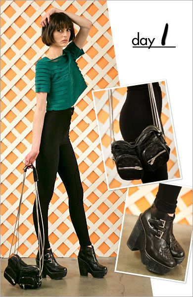 Footwear, Sleeve, Trousers, Outerwear, Style, Fashion, Black, Leather, Boot, Knee,