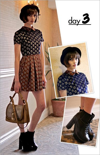 Brown, Shoulder, Fashion accessory, Bag, Pattern, Style, Boot, Leather, Fashion, Street fashion,