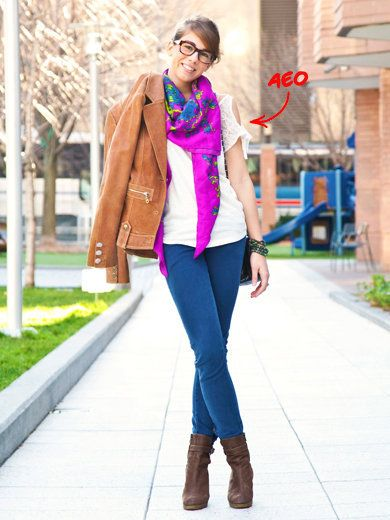 Clothing, Brown, Sleeve, Textile, Outerwear, Boot, Pink, Style, Street fashion, Fashion accessory,