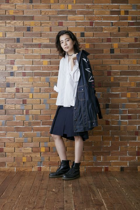 Clothing, Sleeve, Collar, Textile, Outerwear, Brick, Style, Pattern, Street fashion, Youth,