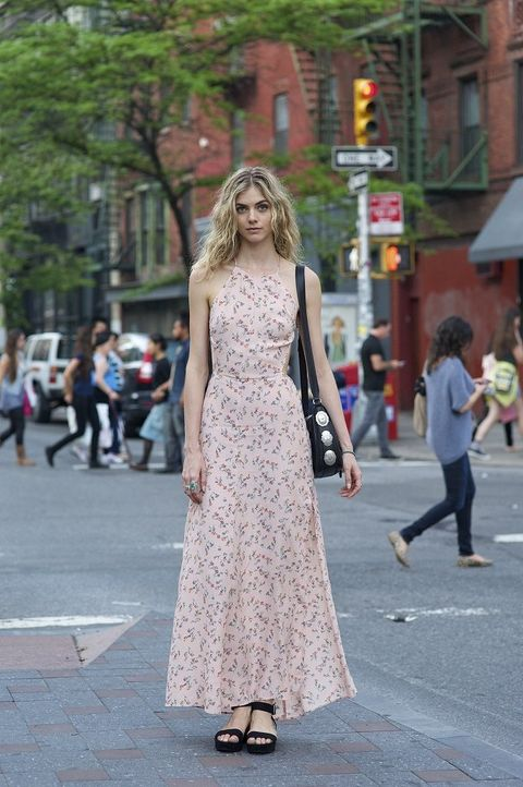 Clothing, Road, Street, Infrastructure, Photograph, Standing, Style, Pedestrian, Street fashion, Dress,