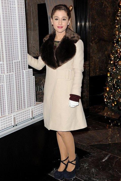 Clothing, Sleeve, Textile, Outerwear, Christmas decoration, Coat, Dress, Fashion, Holiday, Fashion model,