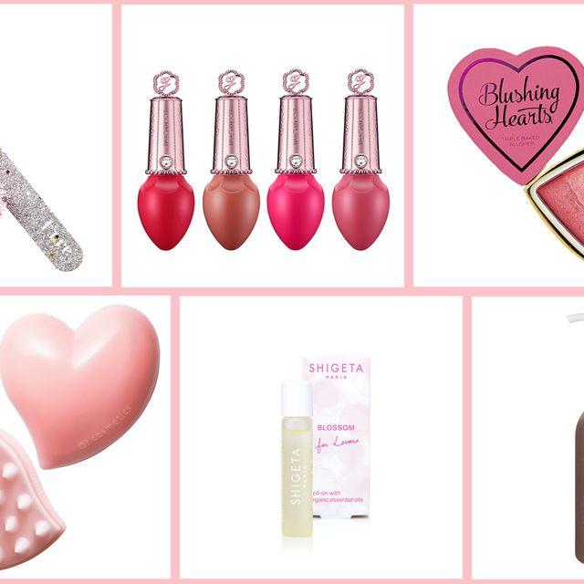 Pink, Heart, Nail care, Nail, Material property, Cosmetics, Nail polish,