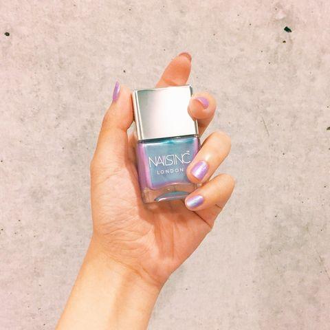 Nail, Nail polish, Skin, Orange, Turquoise, Cosmetics, Finger, Beauty, Nail care, Hand,