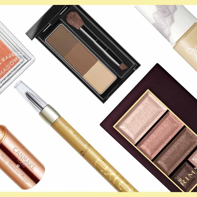 Product, Brown, Tan, Rectangle, Cosmetics, Peach, Eye shadow, Personal care, Cylinder, Lipstick,