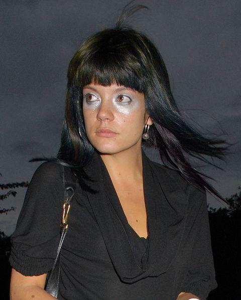 Hairstyle, Jewellery, Black hair, Eyelash, Fashion accessory, Step cutting, Black, Cool, Chest, Body jewelry,