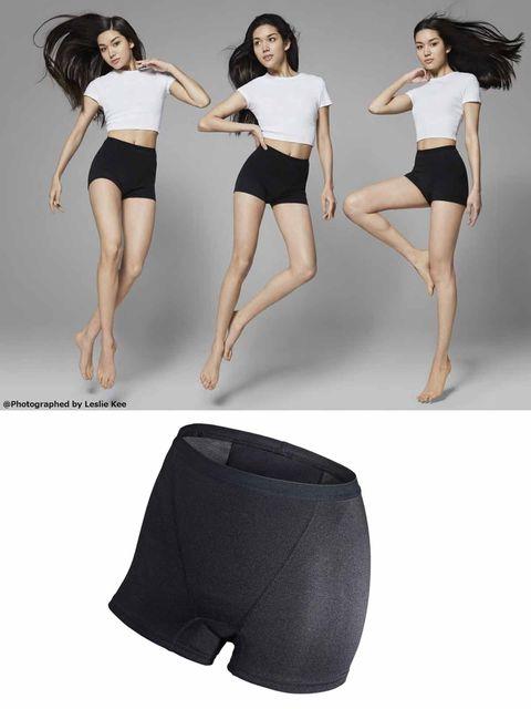 Arm, Leg, Shoulder, Human leg, Joint, Waist, Thigh, Knee, Black hair, Fashion model,