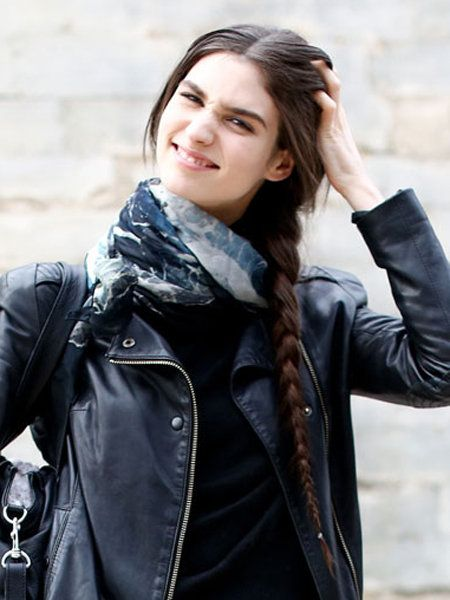 Clothing, Jacket, Sleeve, Textile, Outerwear, Style, Street fashion, Leather, Beauty, Winter,