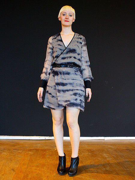Clothing, Footwear, Sleeve, Dress, Shoulder, Human leg, Joint, Fashion show, Style, One-piece garment,