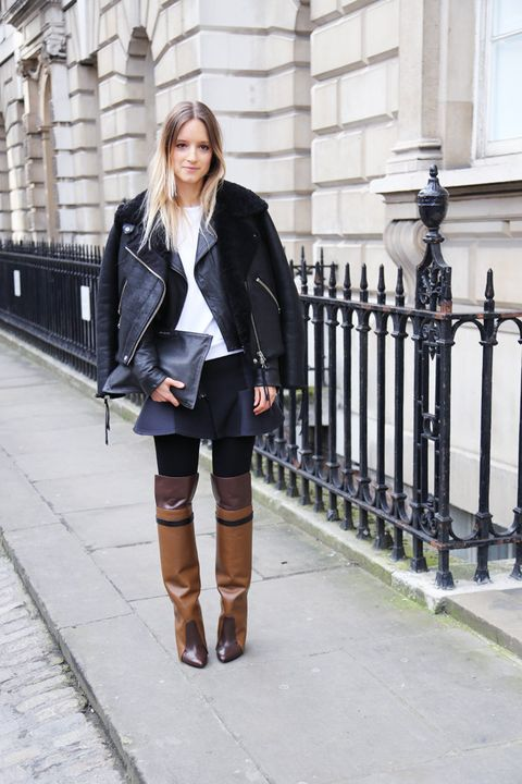 Clothing, Sleeve, Boot, Textile, Outerwear, Coat, Collar, Style, Jacket, Street fashion,