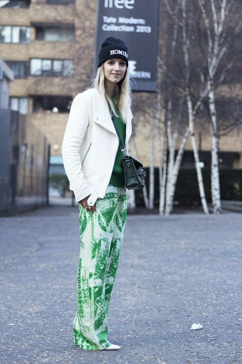 Clothing, Sleeve, Green, Textile, Outerwear, Style, Coat, Street fashion, Cap, Winter,