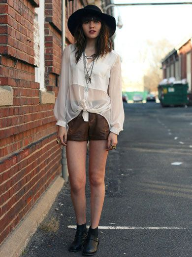 Clothing, Leg, Hat, Human body, Human leg, Brick, Textile, Outerwear, Style, Shorts,