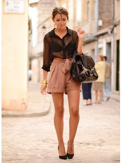 Clothing, Leg, Brown, Shoulder, Bag, Textile, Joint, Outerwear, Style, Street fashion,