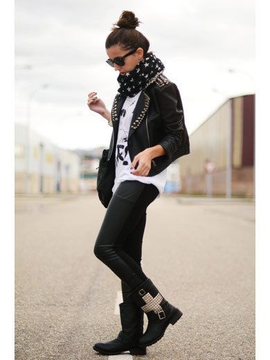 Clothing, Sleeve, Textile, Jacket, Boot, Outerwear, Standing, White, Style, Street fashion,