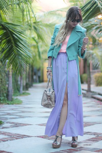 Clothing, Textile, Bag, Outerwear, Purple, Style, Street fashion, Fashion accessory, Lavender, Luggage and bags,