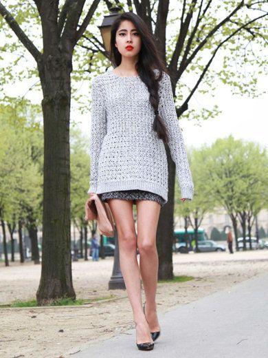 Clothing, Footwear, Shoulder, Human leg, Joint, Dress, Street fashion, Fashion model, Knee, Fashion,