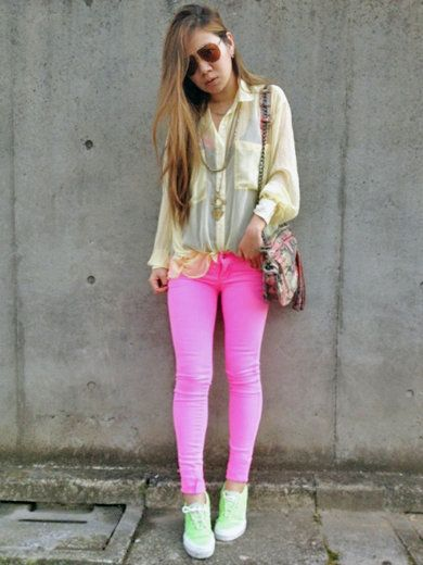 Clothing, Textile, Joint, Outerwear, Pink, Bag, Style, Fashion accessory, Street fashion, Magenta,