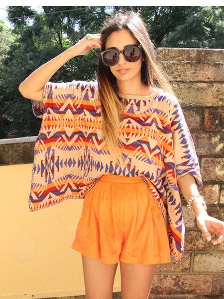 Clothing, Eyewear, Glasses, Sunglasses, Shoulder, Textile, Style, Summer, Orange, Street fashion,