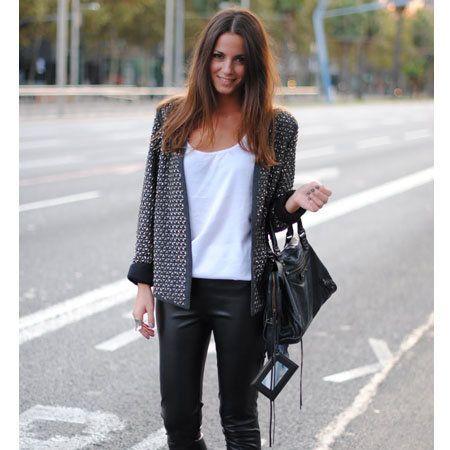 Clothing, Brown, Textile, Bag, Photograph, Outerwear, Style, Street fashion, Asphalt, Pattern,