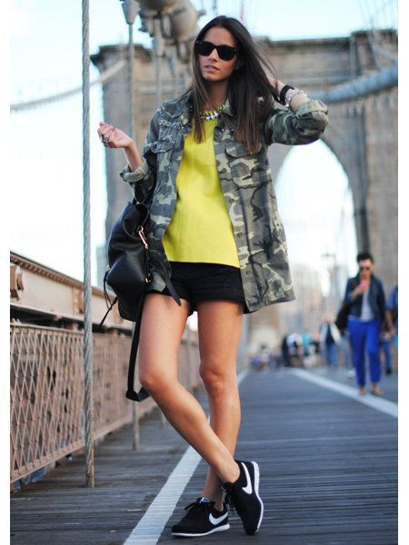 Clothing, Footwear, Human leg, Jacket, Sunglasses, Outerwear, Style, Street fashion, Fashion model, Knee,