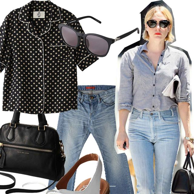 Clothing, Eyewear, Product, Brown, Denim, Sleeve, Trousers, Pattern, Textile, Sunglasses,