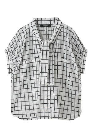 Product, Collar, Sleeve, Textile, Pattern, White, Black, Button, Design, Fashion design,