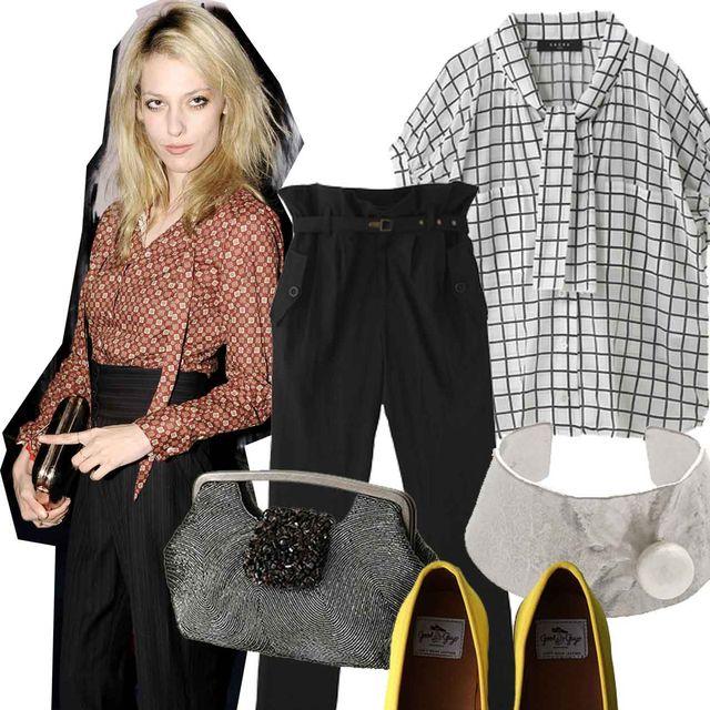 Clothing, Footwear, Product, Brown, Collar, Sleeve, Shoe, Textile, Dress shirt, Pattern,
