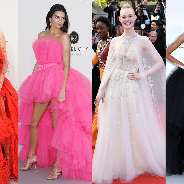 Fashion model, Dress, Gown, Clothing, Shoulder, Fashion, Formal wear, Pink, Haute couture, Strapless dress,