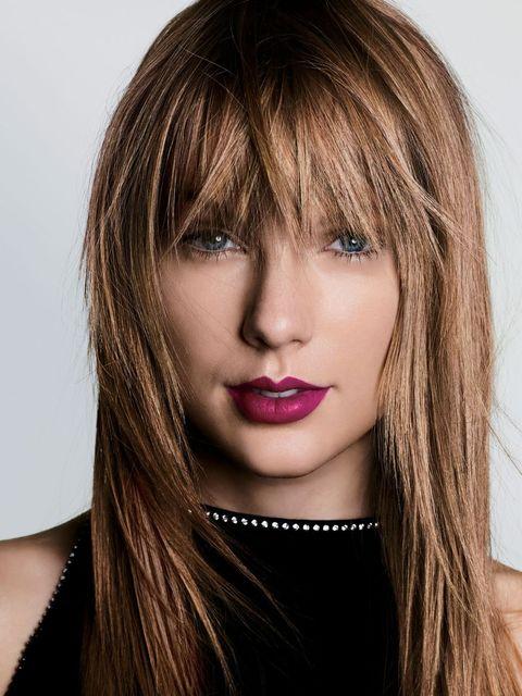 Hair, Face, Hairstyle, Lip, Blond, Eyebrow, Hair coloring, Chin, Layered hair, Bangs,