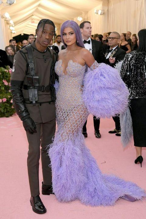 Fashion, Haute couture, Dress, Clothing, Gown, Purple, Shoulder, Carpet, Event, Red carpet,