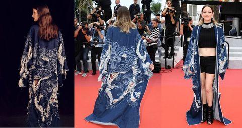 Red carpet, Clothing, Fashion model, Fashion, Carpet, Dress, Street fashion, Flooring, Jeans, Premiere,