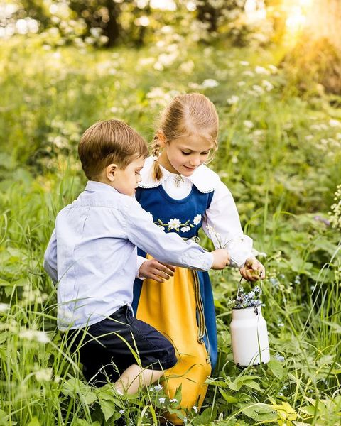 Grass, Happy, Child, People in nature, Baby & toddler clothing, Toddler, Sunlight, Grass family, Meadow, Spring,