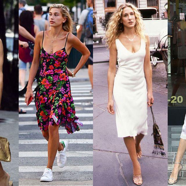 Clothing, Leg, Dress, Shoulder, Style, Street fashion, Summer, Waist, Fashion, One-piece garment,