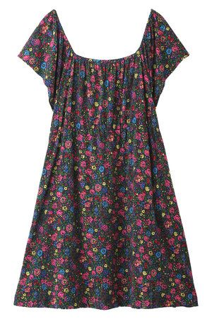 Clothing, Dress, Textile, Pattern, One-piece garment, White, Pink, Magenta, Day dress, Purple,