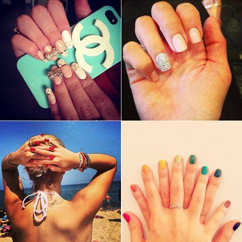Finger, Skin, Nail, Wrist, Style, Nail care, Nail polish, Teal, Manicure, Jewellery,