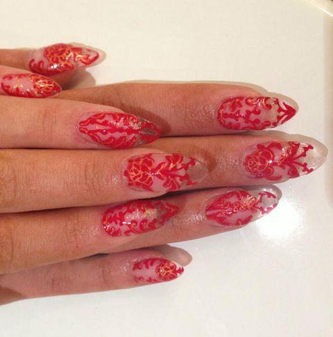 Finger, Blue, Skin, Red, Nail, Nail care, Nail polish, Manicure, Pink, Magenta,