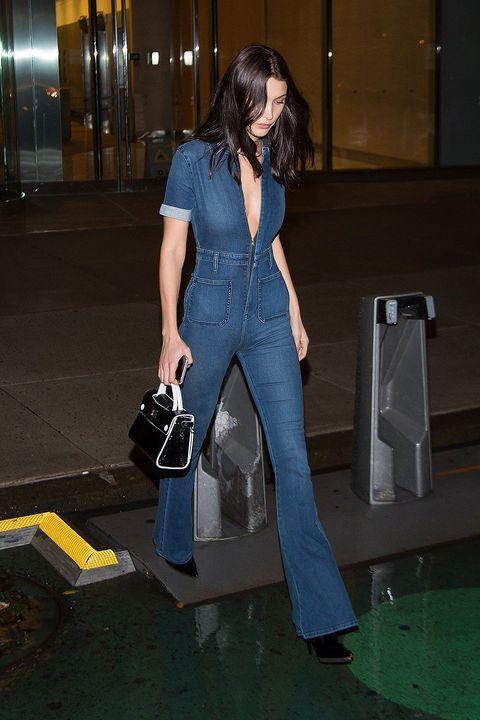 Denim, Style, Street fashion, Fashion, Bag, Electric blue, Pocket, Fictional character, Long hair, Fashion model,