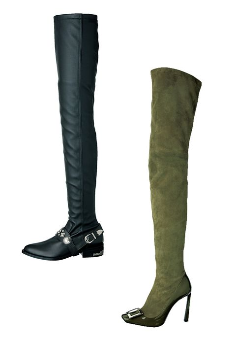 Footwear, Brown, Style, Fashion, Black, Boot, Leather, Fashion design, Silver, Knee-high boot,