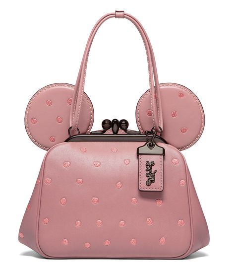 Handbag, Bag, Pink, Fashion accessory, Shoulder bag, Hand luggage, Design, Material property, Font, Luggage and bags,