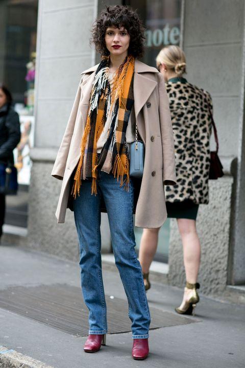 Clothing, Footwear, Leg, Trousers, Denim, Textile, Photograph, Outerwear, Street, Coat,