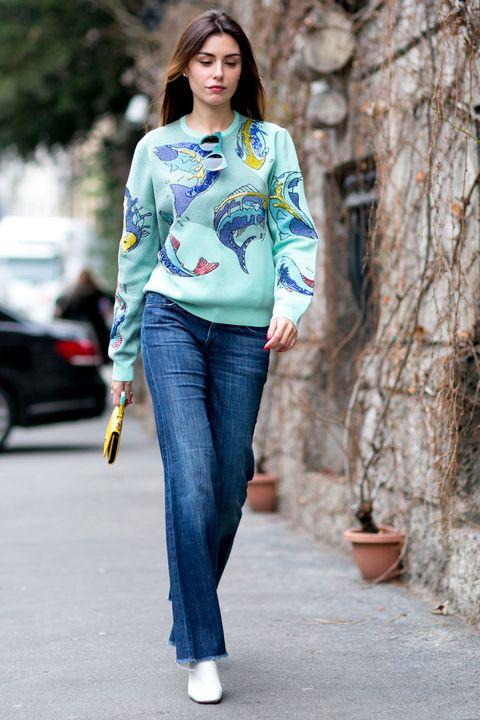 Clothing, Blue, Flowerpot, Sleeve, Denim, Trousers, Jeans, Shoulder, Textile, Joint,